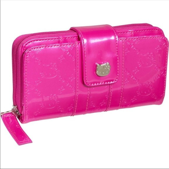 Hello Kitty Patent Leather Lady Card Coin Bag Holder Purse Wallet SPECIAL OFFER